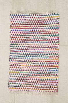 Triangle Weave 2x3 Rug in Multicolour