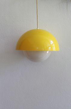 Mod Plastic Pendant Lamp with Glass Orb