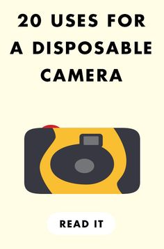 20 creative uses for a disposable camera