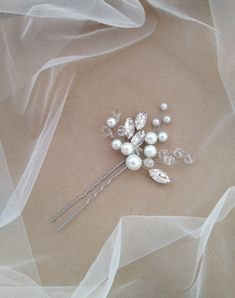 Bead Embroidery Jewelry, Beaded Embroidery, Wax Flowers, Bridal Comb, Corsages, Wedding Hair Accessories, Hair Pins, Headpiece, Headbands