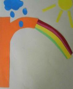 "lowercase letter ""r"" for rainbow. pre-K/preschool craft. Letter R Activities, Alphabet Letter Crafts, Abc Crafts, Preschool Letters, Literacy Activities, Preschool Crafts, Montessori, Letter School, Jolly Phonics"