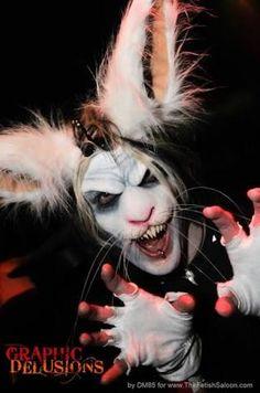 rabbit makeup with prosestics - Google Search