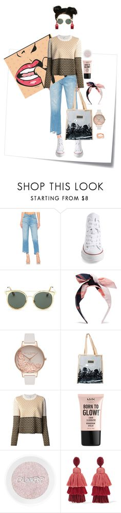 """swag."" by yvsra ❤ liked on Polyvore featuring Post-It, J Brand, Converse, Quay, Benoît Missolin, Olivia Burton, adidas, Kenzo, NYX and Oscar de la Renta"