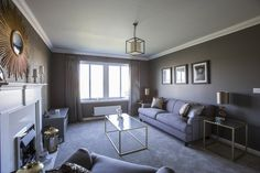 Subtle greys used in the lounge at Walker Group's Ashton Gardens in Kirkliston