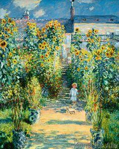 Claude Monet - Der Garten des Künstlers in Vétheuil *MY MOST FAVORITE MONET PAINTING*