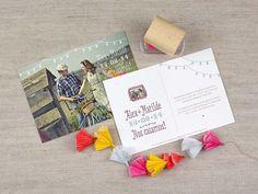 Invitaciones de boda tipo postal