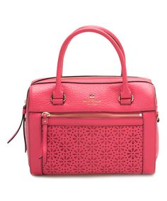 Look what I found on #zulily! Kate Spade Peony Pink Delaney Perri Lane Convertible Leather Satchel by Kate Spade #zulilyfinds