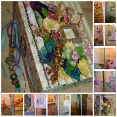 Oversize, Elaborate Fairyland Album for Photos, Keepsakes, or As Is. Available https://www.zibbet.com/enchanted-revelries/fairy-land-lavish-large-photo-keepsake-album-ooak