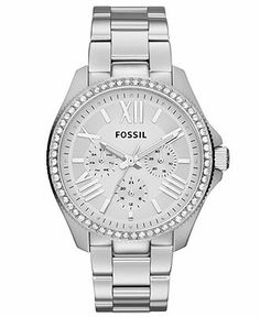 Fossil Watch, Women's Cecile Stainless Steel Bracelet