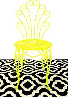 Vintage Hollywood Regency Gold Metal & Faux Fur Vanity Chair ...