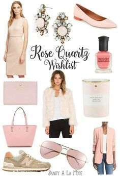 A Rose Quartz Wishlist centered around Pantone's 2016 color