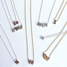 Heart to Get Initials ketting. Kies een ketting en hang er zelf gekozen initialen & symbolen aan.    www.ajuweliers.nl