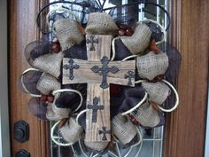 Texas Western Burlap Mesh Wreath (last one left). $65.00, via Etsy.
