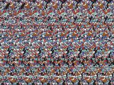 Super Bowl 50 Football Magic Eye Illusion - http://www.moillusions.com/21598-2/