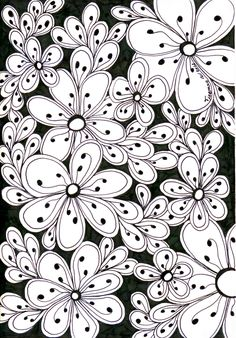 All-flowers | Zentangle journal ideas | Patterns | Pinterest