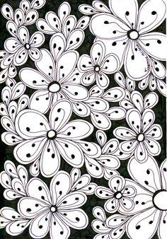 All-flowers | Zentangle journal ideas