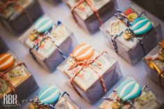 Hot Air Balloon themed : Favors wrapping idea