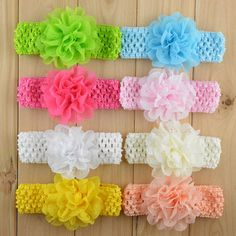 Cheap headband, Buy Quality headband storage directly from China headband wig Suppliers: Fashion girl Hair Accessory Hollow Out Chiffon Foe Crochet Hair Band Girls Headbands 10pcs/lot Freeshipping TD25