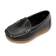 Nuevos niñas niños pu de cuero suave niños shoes niños transpirable zapatillas de deporte de pisos con moda mocasines blandos kids shoes holgazanes