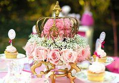 Un centre de table de princesse