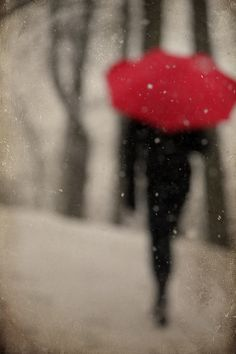 There was a lovely stranger who knocked on a young gentle mans door and after he fell in love she had to go. He was prestigious about her leaving by herself. She took out a red umbrella and walked out