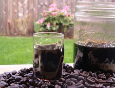 This is Coffee infused Bourbon. Sounds so good and very easy. Can't wait to try.