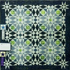 """I love you"" by Catherine Mackre, Texas 2000 Quilt Odyssey: 1st Place, Traditional Pieced, Small"