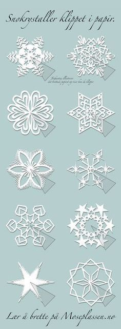 Paper snowflakes and other kirigami patterns. by carlene Paper snowflakes and other kirigami patterns. by carlene