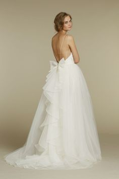 I am in LOVE with the back of this dress!  Jim Hjelm Blush Collection 2012