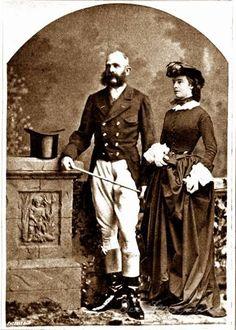 Gemonteerde(?) foto van Frans Josef en Elisabeth