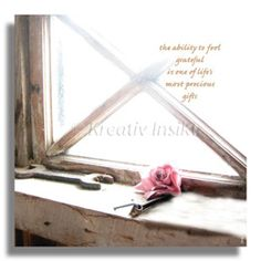 Text on card: The ability to feel grateful is one of life's most precious gifts. With love from (c) Kreativ Insikt.