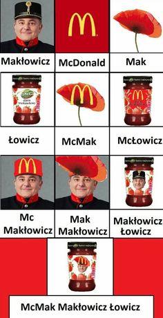 Mam smaka na maka Very Funny Memes, Wtf Funny, Funny Jokes, Hilarious, Funny Images, Funny Photos, Polish Memes, Weekend Humor, Funny Mems