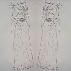 Kurdish cloth #kurdish #dress #drawn #by #me #kurdistan #fashion