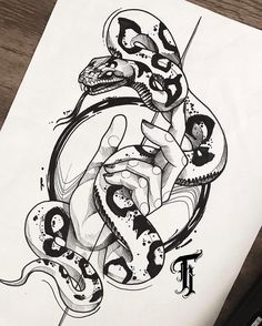 Meet 27 artists from all over Brazil who do blackwork style become passionate. Dog Tattoos, Animal Tattoos, Black Tattoos, Body Art Tattoos, Sleeve Tattoos, Black Snake Tattoo, Tattoo Design Drawings, Tattoo Sketches, Tattoo Designs