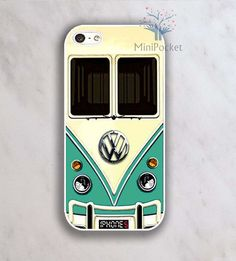 VW Minibus Teal Iphone Case - iPhone 4 Case, iPhone 4s Case, iPhone 5 case...never really wanted a case before but this is badass!