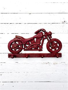 Ornate Cast Iron Motorcycle HookBikeIron Wall by TheIronNook