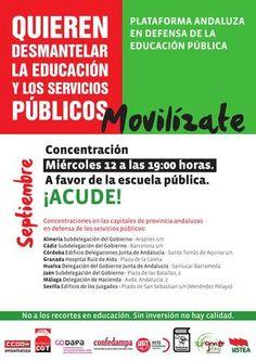 Moviízate el 12 de septiembre, a favor de la escuela pública. Andalucía