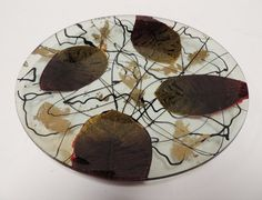 JK ART 8 Inch Handmade Green and Red Leaves Circle Art Glass Plate by JK Art Business Center Inc., http://www.amazon.com/dp/B00866OW3Q/ref=cm_sw_r_pi_dp_KPmMrb121D61A