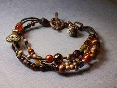 Lovely autumn bracelet DIY / Náramek