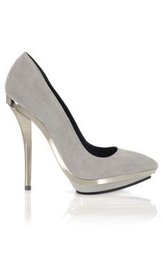 Versace Mirrored Heel Pump $775