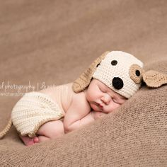 Precious Puppy Dog Hat and Diaper Cover Set Puppy Nursery Theme, Dog Nursery, Baby Puppies, Baby Dogs, Baby Boy Beanies, Puppy Hats, Baby Shower Photography, Photography Ideas, Baby Pictures