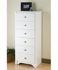 slim dresser - Winslow White 6-drawer Lingerie Chest