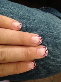 Pink sparkle gel nail design Jenny's nails Sage meadows - Calgary AB CAN