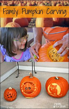 Making Memories - Family Pumpkin Carving from Mess for Less