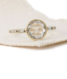 Round Rose Cut Diamond Baguette Ring #loveaudryrose #audryrosebridal
