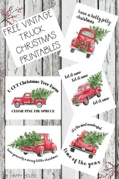 5 Free Vintage Truck Christmas Printables: Get these free classic vintage Christmas prints for your holiday home! 5 Free Vintage Truck Christmas Printables: Get these free classic vintage Christmas prints for your holiday home! Christmas Tree With Snow, Christmas Truck, Christmas Signs, Rustic Christmas, Christmas Holidays, Christmas Ornaments, Christmas Island, Christmas Stuff, Christmas 2019