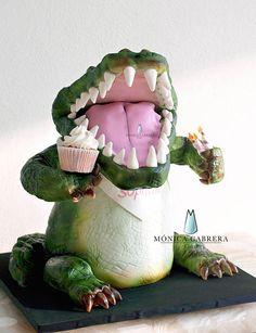 Pastel Cocodrilo Monica Cabrera Cakes www.monicacabreracakes.com Puebla, México