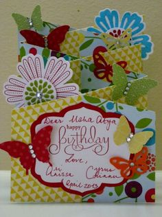 Spring Birthday Happiness by Chinnu - Cards and Paper Crafts at Splitcoaststampers