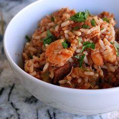 Stovetop Andouille and Shrimp Jambalaya - Katie's Cucina   Katie's Cucina