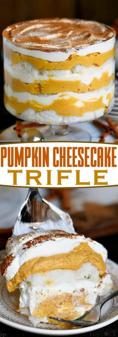 Pumpkin Cheesecake Trifle is sure to impress all season long! Layers of pum. This Pumpkin Cheesecake Trifle is sure to impress all season long! Layers of pum. This Pumpkin Cheesecake Trifle is sure to impress all season long! Layers of pum. Cheesecake Trifle, Trifle Desserts, Trifle Recipe, Easy Desserts, Dessert Recipes, Chef Recipes, Oreo Trifle, Cheesecake Cookies, Delicious Recipes
